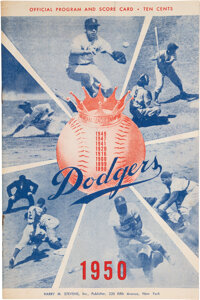 1951 New York Yankees Program from Day of Mickey Mantle Contract Signing