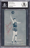 Basketball Cards:Singles (Pre-1970), Signed 1948-49 Exhibits Sports Champions George Mikan #BK4 BAS Auto Authentic....