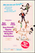 """Movie Posters:Comedy, What's New, Pussycat? (United Artists, 1965). Folded, Fine-. One Sheet (27"""" X 41"""") Style B, Frank Frazetta Artwork. Comedy...."""