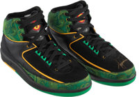 """2007 Tiger Woods Signed Air Jordan II """"Doernbecher"""" Sneakers - 1 of Only 2 Pairs Signed by Woods!"""