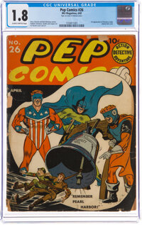 Pep Comics #26 (MLJ, 1942) CGC GD- 1.8 Slightly brittle pages