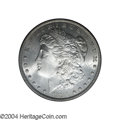 Morgan Dollars: , 1894 $1 MS63 PCGS. Satiny-white and without any sizeable ...