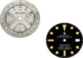 Timepieces:Other , Rolex, Two Dials, Ref. 1680 Submariner, Vintage Three Register Chronograph. ... (Total: 2 Items)