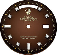 Rolex, Rare Brown Day-Date Dial With Diamond Indexes