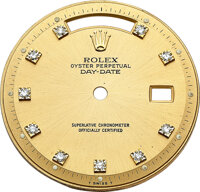 Rolex, Champagne Gold And Diamond Day-Date Dial