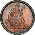 Seated Dimes, 1837 10C No Stars, Large Date, F-101b, R.2, MS66+ PCGS....