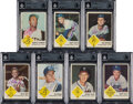 Autographs:Sports Cards, Signed 1963 Fleer Baseball Near Set (61/66) - With Clemente. ...