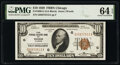 Fr. 1860-G $10 1929 Federal Reserve Bank Note. PMG Choice Uncirculated 64 EPQ