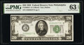 Fr. 2050-C $20 1928 Federal Reserve Note. PMG Choice Uncirculated 63 EPQ