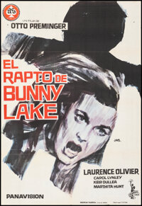 """Bunny Lake is Missing (As Films S.A., 1966). Folded, Fine/Very Fine. Spanish One Sheet (26.5"""" X 39"""") Jano Artw..."""