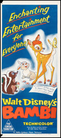 """Movie Posters:Animation, Bambi (MGM, R-1966/General Union, R-1979). Folded, Very Fine. Australian Daybills (2) (13"""" X 30"""" & 13.25"""" X 30""""). Animation.... (Total: 2 Items)"""