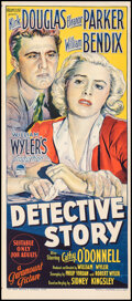 """Movie Posters:Crime, Detective Story (Paramount, 1952). Folded, Very Fine-. Australian Daybill (13"""" X 30""""). Crime.. ..."""