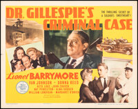 """Dr. Gillespie's Criminal Case & Other Lot (MGM, 1943). Folded, Overall: Very Fine-. Half Sheets (2) (22"""" X 28&q..."""