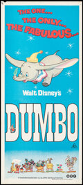 """Movie Posters:Animation, Dumbo & Other Lot (BEF, R-1972). Folded, Overall: Very Fine-. Australian Daybills (2) (Approx. 13.5"""" X 30""""). Animation.. ... (Total: 2 Items)"""
