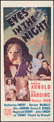 """Eyes in the Night & Other Lot (MGM, 1942). Folded, Overall: Very Fine. Australian Daybills (3) (13.25"""" X 30&quo..."""