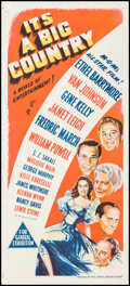 """Movie Posters:Comedy, It's a Big Country (MGM, 1951). Folded, Very Fine-. Australian Daybill (13.5"""" X 30""""). Comedy.. ..."""