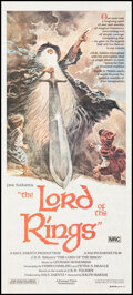 """Movie Posters:Animation, The Lord of the Rings (United Artists, 1978). Folded, Very Fine-. Australian Daybill (13.25"""" X 30"""") Tom Jung Artwork. Animat..."""
