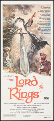 """The Lord of the Rings (United Artists, 1978). Folded, Very Fine-. Australian Daybill (13.25"""" X 30"""") Tom Jung A..."""