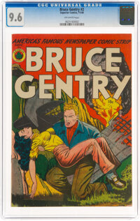 Bruce Gentry #2 (Superior Comics, 1948) CGC NM+ 9.6 Off-white pages