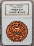 So-Called Dollars, 1909 Medal Alaska-Yukon-Pacific Exposition, Utah Dollar, Copper, HK-359, R.5, MS66 Red and Brown NGC. NGC Census: (9/1). PC...