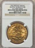 U.S. Mint Medals, 1962 Seattle World's Fair, U.S. Mint Issue, Bronze Medal, Swoger-34Bc, Brilliant Uncirculated NGC....
