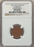 1863 Staudinger's, Civil War Store Card, Fuld-630BS-2a, MS63 Brown NGC. New York, NY. From the Dickson Collection