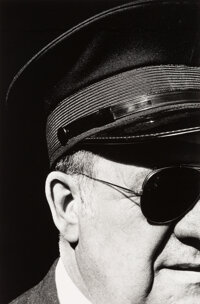 Ralph Gibson (American, 1939) Untitled (Man in Cap and Sunglasses, from Quadrants series), 1975 Gela