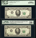 Fr. 2066-B* $20 1963A Federal Reserve Star Notes. Two Examples. PCGS Gem New 65PPQ; PMG Choice About Unc 58 EPQ. ... (To...