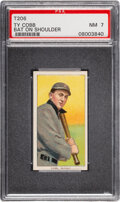 Baseball Cards:Singles (Pre-1930), 1909-11 T206 Sovereign 150 Ty Cobb (Bat on Shoulder) PSA NM 7 - Pop Two, None Higher for Brand/Series. ...