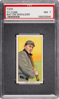 1909-11 T206 Sovereign 150 Ty Cobb (Bat on Shoulder) PSA NM 7 - Pop Two, None Higher for Brand/Series