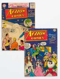 Action Comics #198 and 220 Group (DC, 1954-55) Condition: Average GD.... (Total: 2 Comic Books)