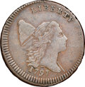 Half Cents, 1797 1/2 C Lettered Edge, Low Head, C-3b, B-3a, R.4, XF40 NGC....