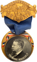 Political:Ribbons & Badges, Theodore Roosevelt: Outstanding 1912 Button Badge. ...