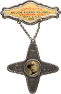 Political:Pinback Buttons (1896-present), Theodore Roosevelt: A Terrific Rough Rider Reunion Badge from His 1900 Vice Presidential Campaign. ...