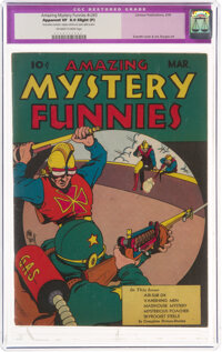 Amazing Mystery Funnies V2#3 (Centaur, 1939) CGC Apparent VF 8.0 Slight (P) Off-white to white pages