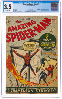 The Amazing Spider-Man #1 (Marvel, 1963) CGC VG- 3.5 Off-white pages