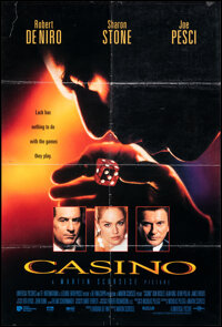 """Casino & Other Lot (Universal, 1995). Folded, Overall: Fine/Very Fine. One Sheet (26.75"""" X 39.75"""") DS, Egy..."""