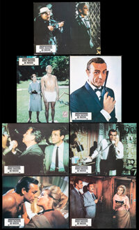 """From Russia with Love (United Artists, R-1970s). Very Fine-. French Lobby Cards (7) (8.5"""" X 10.75""""). James Bon..."""