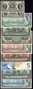 Canada and Mexico Group Lot of 18 Examples Fine-Crisp Uncirculated. ... (Total: 18 notes)