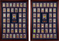 Baseball Cards:Sets, Signed 1959 Fleer Ted Williams Complete Set Plus Unopened Wax Packs Display, PSA/DNA Encapsulated - from The Dick Gordon Spor...