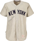 Baseball Collectibles:Uniforms, 1958 Mickey Mantle Game Worn & Signed New York Yankees Jersey, MEARS A7....