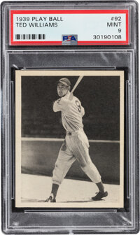 1939 Play Ball Ted Williams Rookie #92 PSA Mint 9