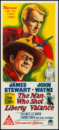 """Movie Posters:Western, The Man Who Shot Liberty Valance & Other Lot (Paramount, 1963). Folded, Overall: Very Fine+. Australian Daybills (2) (13.5"""" ... (Total: 2 Items)"""