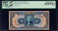 World Currency, Brazil Thesouro Nacional 2 Mil Reis ND (1919) Pick 14 PCGS Extremely Fine 45PPQ.. ...