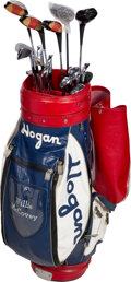 """Golf Collectibles:Miscellaneous, 1970's-90's Willie McCovey Owned & Used """"Ben Hogan"""" Golf Bag & Clubs from The Willie McCovey Collection...."""