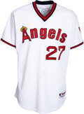Baseball Collectibles:Uniforms, 2014 Mike Trout Game Worn & Unwashed Los Angeles Angels Uniform, MLB Authentic & Photo Matched....