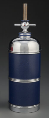 A Chrome Cocktail Shaker with Clown Finial, 20th century 11-3/4 inches (29.8 cm)