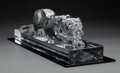 Glass, A Baccarat Glass Panther, France, late 20th century. Marks: BACCARAT, (goblet-decanter-cup), FRANCE. 5-3/4 x 20-1/4 ...