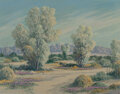 Paintings, Carl Sammons (American, 1883-1968). Smoke Trees, Palm Springs, California. Oil on canvas. 20 x 26 inches (50.8 x 66.0 cm...