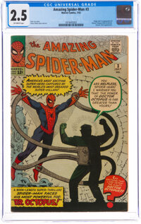 The Amazing Spider-Man #3 (Marvel, 1963) CGC GD+ 2.5 Off-white pages
